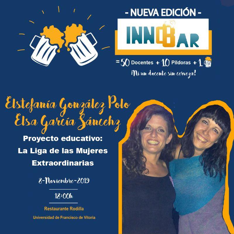 Estefanía González Polo y Elsa García Sánchez en InnoBar UFV