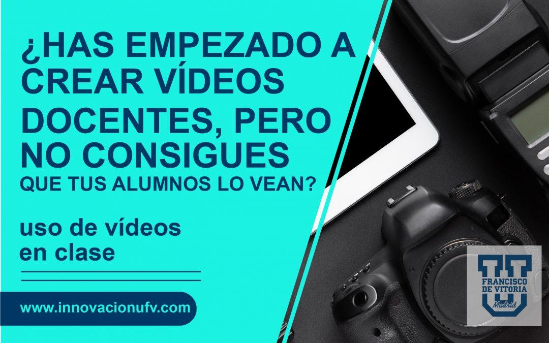 ¿Has empezado a crear vídeos docentes, pero no consigues que tus alumnos los vean? ¿Te esfuerzas para crear vídeos y a cambio tus alumnos se quejan porque consideran que es demasiado trabajo autónomo?
